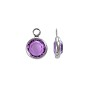 Swarovski Round One-Loop Channel 6mm Amethyst Rhodium Plated (1-Pc)
