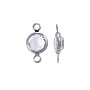 Swarovski Round Two-Loop Channel 6mm Crystal Rhodium Plated (1-Pc)
