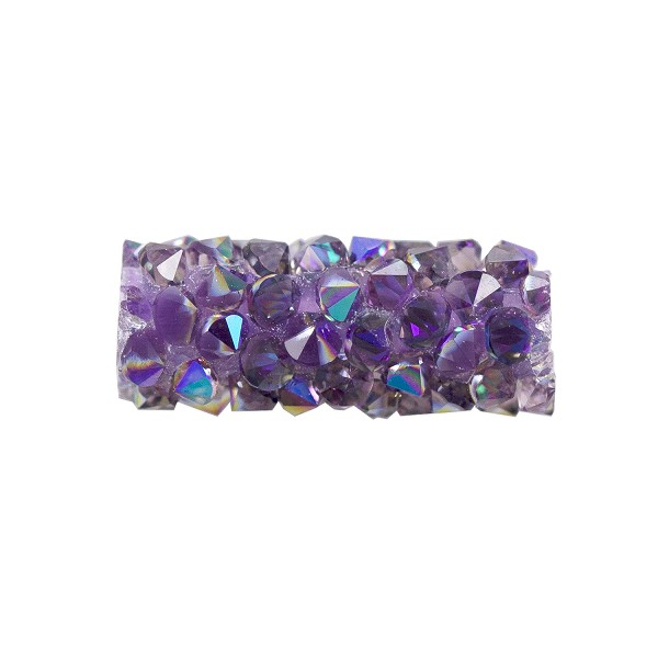Swarovski Fine Rocks Tube Bead 5951 15x6mm Light Amethyst/Crystal Paradise Shine (1-Pc)