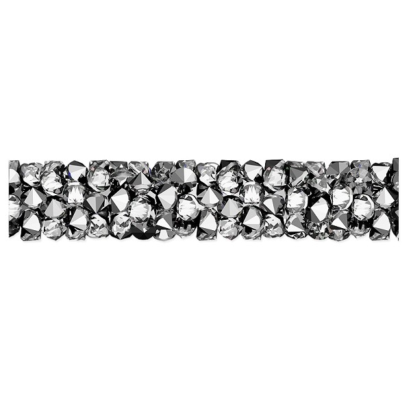 Swarovski Fine Rocks Tube Bead 5951 30x6mm Crystal Light Chrome (1-Pc)