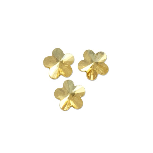 Swarovski 2726 Flower Flat Back 5mm Crystal Golden Shadow (3-Pcs)