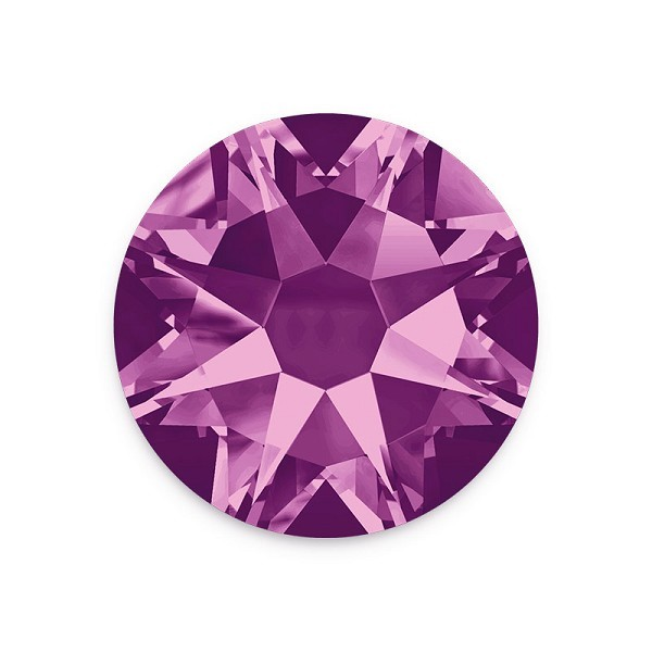 Swarovski 2088 3.5mm (SS14) Amethyst Flat Back (10-Pcs)