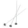 Swarovski 1-½ Inch Rhodium Plated Head Pin with 3mm Black Diamond Chaton (2-Pcs)