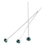 Swarovski 1-½ Inch Rhodium Plated Head Pin with 3mm Emerald Chaton (2-Pcs)