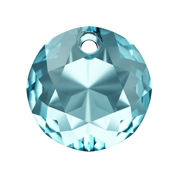 Swarovski Classic Cut 6430 Pendant 14mm Aquamarine (1-Pc)