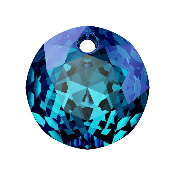 Swarovski Classic Cut 6430 Pendant 8mm Crystal Bermuda Blue (1-Pc)
