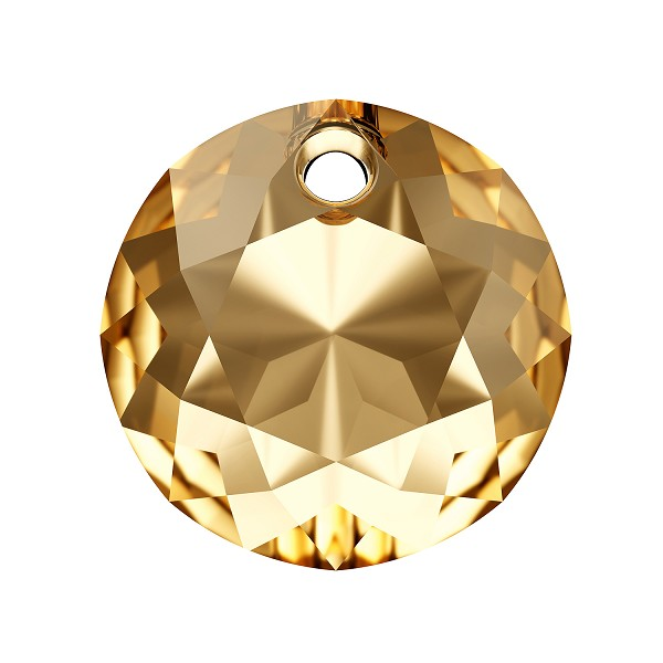 Swarovski Classic Cut 6430 Pendant 8mm Crystal Golden Shadow (1-Pc)