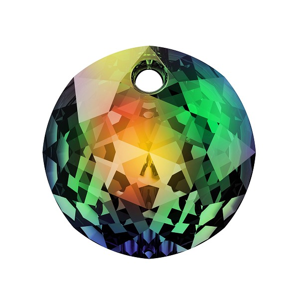 Swarovski Classic Cut 6430 Pendant 14mm Crystal Vitrail Medium (1-Pc)