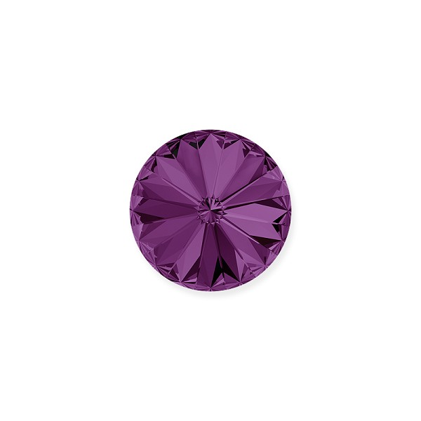 Swarovski 1122 12mm Amethyst Rivoli Chaton (1-Pc)
