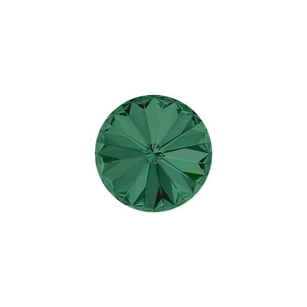 Swarovski 1122 12mm Emerald Rivoli Chaton (1-Pc)