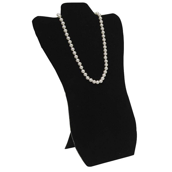 Necklace Display Tall Black Velvet
