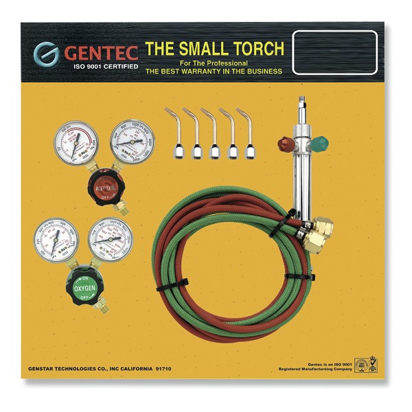 Gentec Small Torch Kits with Regulators, Oxygen/Propane