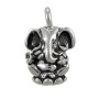 TierraCast Ganesh Charm 18x11.5mm Pewter Antique Silver Plated (1-Pc)