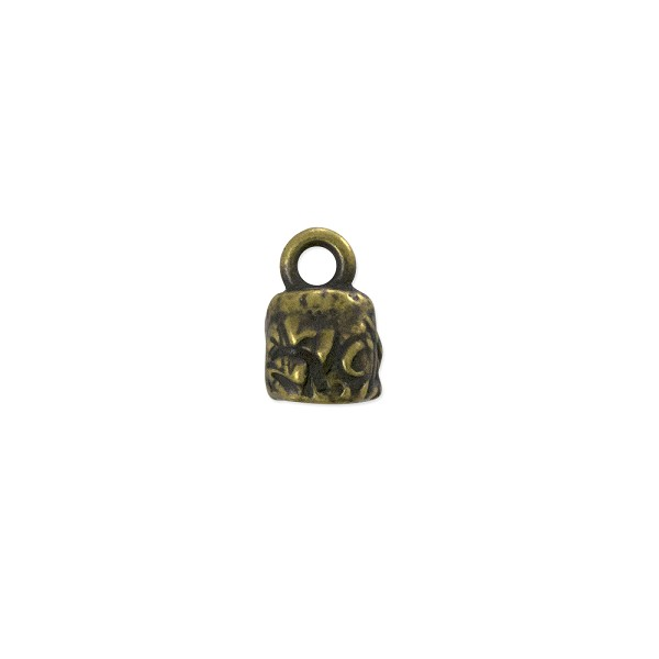 TierraCast Jardin Crimp End Cap 11x7.6mm Brass Oxide Plated (1-Pc)