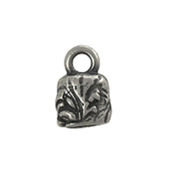 TierraCast Jardin Crimp End Cap 11x7.6mm Antique Pewter Plated (1-Pc)
