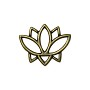 TierraCast Open Lotus Charm 19mm Pewter Brass Oxide Plated (1-Pc)