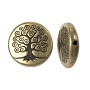 TierraCast Tree of Life Puffed Bead 15mm Pewter Brass Oxide (1-Pc)