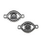 TierraCast Evil Eye Link Pewter Antique Silver Plated 11x20mm (1-Pc)
