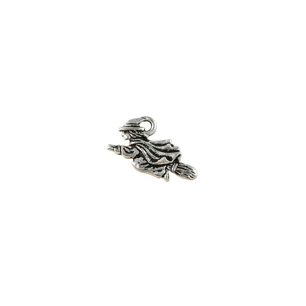 TierraCast Witch Charm 18x21mm Pewter Antique Silver Plated (1-Pc)