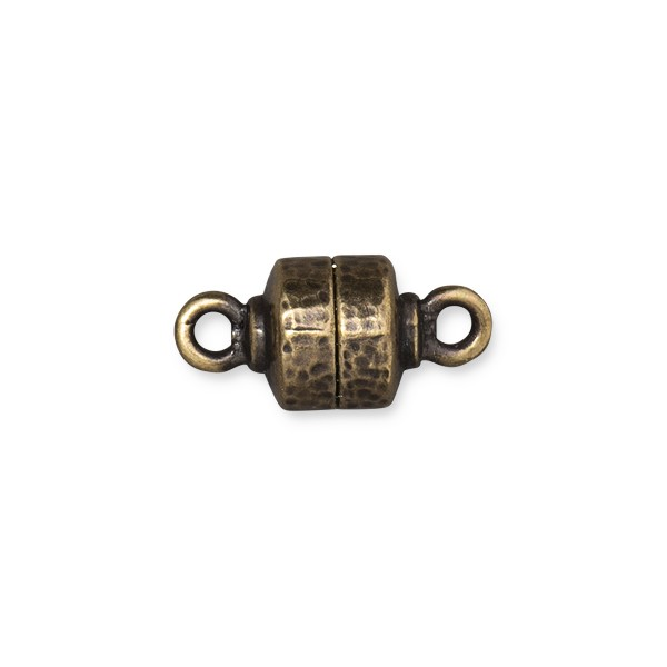 TierraCast Hammertone Magnetic Clasp 9x18mm Brass Oxide (1-Pc)