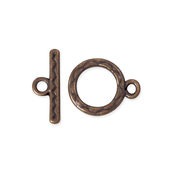 Toggle Clasp - 12mm Antique Copper Plated (1-Pc)