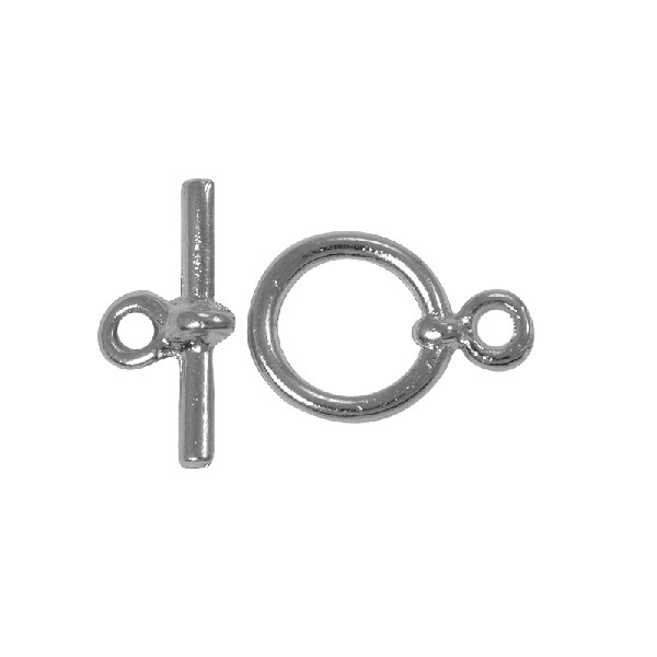 Toggle Clasp - 10mm Silver Plated (Set)