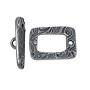 TierraCast Toggle Clasp - Jardin 15mm Antique Pewter Plated (Set)