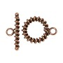 Toggle Clasp - Wire Wrapped 18mm Copper (1-Pc)