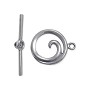 Toggle Clasp - Swirl 19x16mm Sterling Silver (Set)