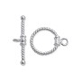 Toggle Clasp - Twisted Rope 12mm Sterling Silver (Set)