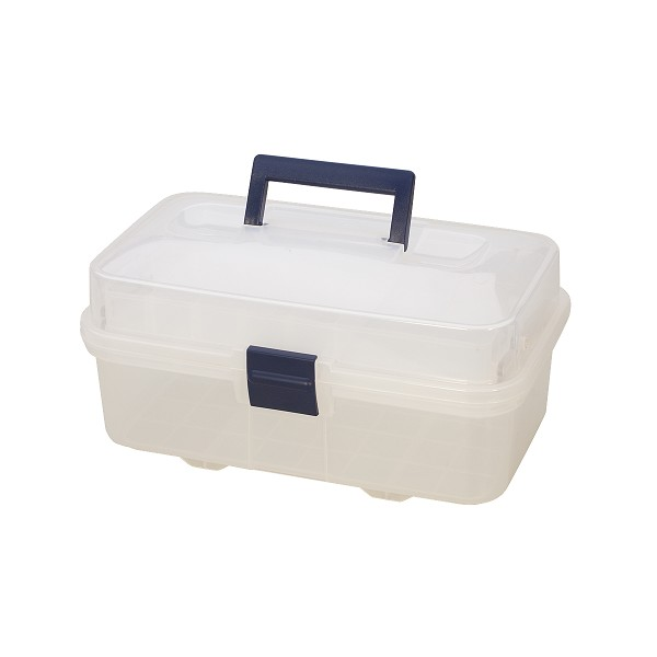 Clear Plastic Storage Box with Compartments