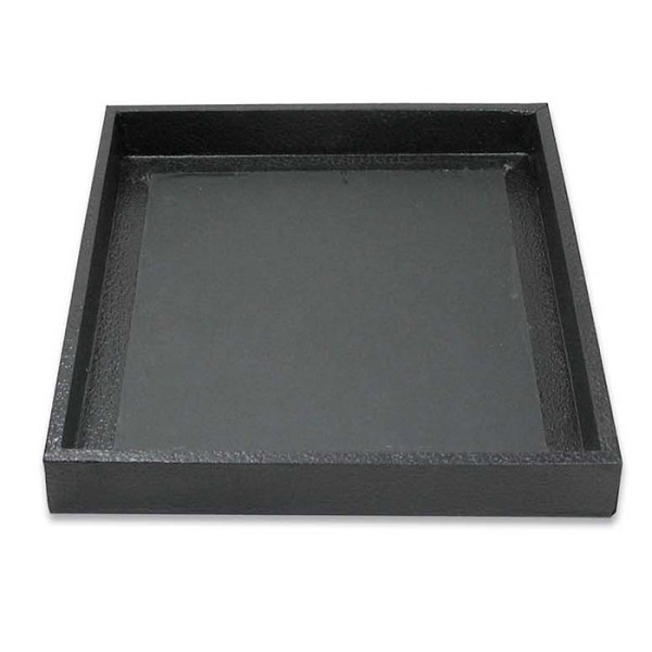 1 Inch Tall Half Size Black Jewelry Tray