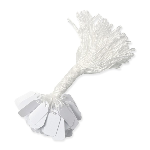 16mm White Paper String Tags (100-Pcs)