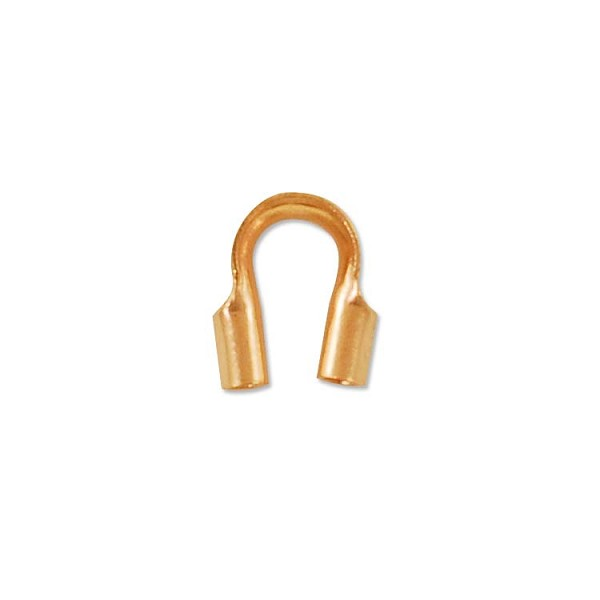 Rose Gold Filled Wire Protector Guard .75mm Hole (2-Pcs)